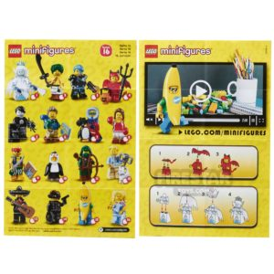 Product shot LEGO - Minifigures Series 16 Collectable Leaflet