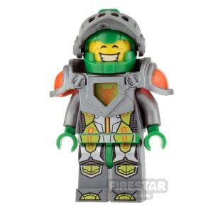 Product shot LEGO Nexo Knights Mini Figure - Aaron - Flat Silver Visor