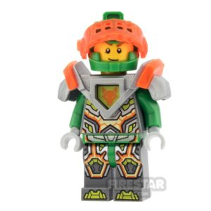 Product shot LEGO Nexo Knights Minifigure Aaron Trans Orange Visor