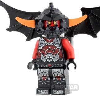 Product shot LEGO Nexo Knights Mini Figure - Ash Attacker - Orange Horns and Wings