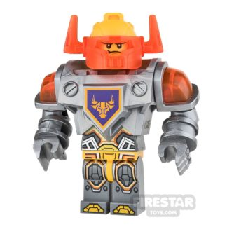 Product shot LEGO Nexo Knights Mini Figure - Axl - Trans-Neon Orange Visor