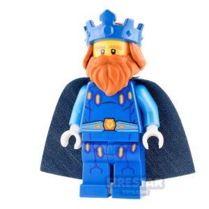 Product shot LEGO Nexo Knights Mini Figure - King Halbert - Blue Crown and Robes