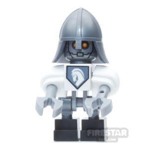 Product shot LEGO Nexo Knights Mini Figure - Lance Bot - Silver Helmet