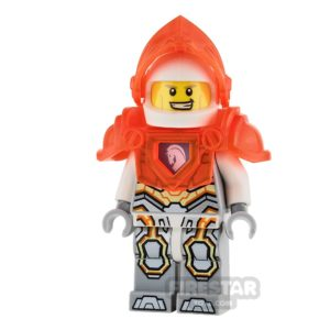 Product shot LEGO Nexo Knights Mini Figure - Lance - Trans Neon-Orange Armour