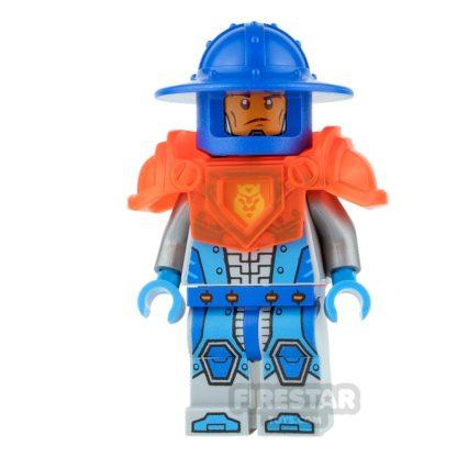 Product shot LEGO Nexo Knights Mini Figure - Royal Guard - Trans Neon Orange Armour