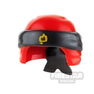 Product shot LEGO - Ninja Bandana - Red with Knot - Black