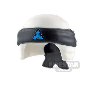 Product shot LEGO - Ninja Bandana - White with Knot - Black