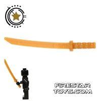 Product shot LEGO - Ninja Samurai Sword - Octagonal Guard - Pearl Gold