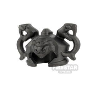 Product shot LEGO - Ninjago Double Snake Helmet - Pearl Dark Gray