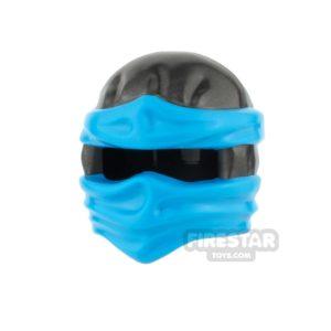 Product shot LEGO - Ninjago Headwrap - Pearl Dark Gray with Azure Wraps
