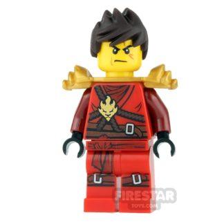 Product shot LEGO Ninjago Mini Figure - Kai - Pearl Gold Armour and Tousled Hair