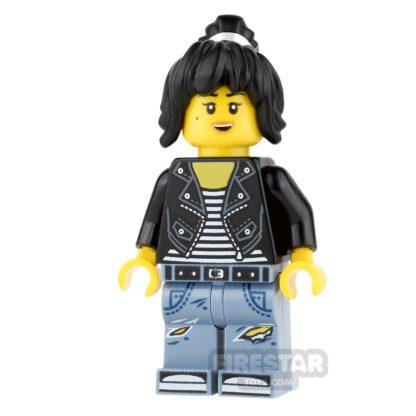 Product shot LEGO Ninjago Mini Figure - Nya - Leather Jacket and Jeans
