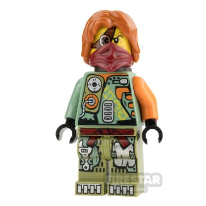 Product shot LEGO Ninjago Mini Figure - Ronin - Hair and Scabbard
