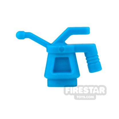 Product shot LEGO - Oil Can - Ribbed Handle - Dark Azure