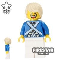 Product shot LEGO Pirate Minifigure Bluecoat Soldier 7