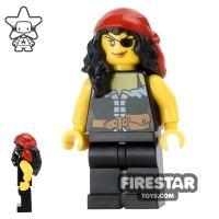 Product shot LEGO Pirate Mini Figure - Pirate Chess Queen