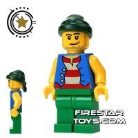Product shot LEGO Pirate Mini Figure - Pirate Green Legs and Bandana