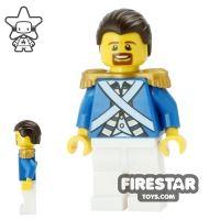 Product shot LEGO Pirate Minifigure Bluecoat Sergeant 1