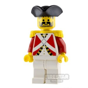 Product shot LEGO Pirate Minifigure Imperial Guard Officer
