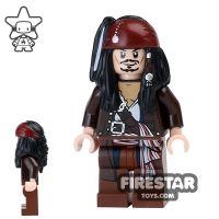 Product shot LEGO Pirates Of The Caribbean Mini Figure - Captain Jack Sparrow - Jacket