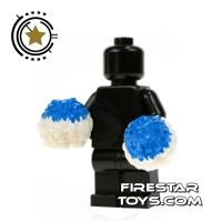 Product shot LEGO - Pom Poms - Blue and White