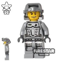 Product shot LEGO Power Miners Mini Figure - Doc - Gray Outfit