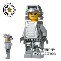 Product shot LEGO Power Miners Mini Figure - Engineer With Armour