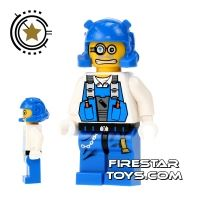Product shot LEGO Power Miners Mini Figure - Power Miner Brains Scared
