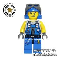 Product shot LEGO Power Miners Mini Figure - Power Miner With Goggles