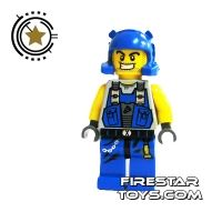 Product shot LEGO Power Miners Mini Figure - Power Miner With Stubble