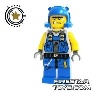 Product shot LEGO Power Miners Mini Figure - Power Miner