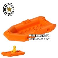Product shot LEGO - Raft Boat - Orange