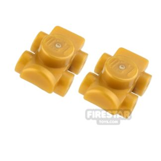 Product shot LEGO - Roller Skates - Pearl Gold