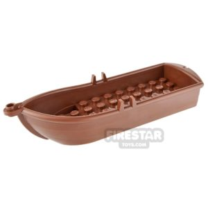 Product shot LEGO - Rowing Boat - Reddish Brown