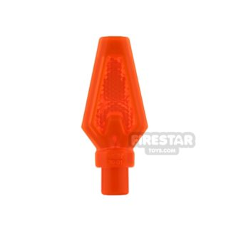 Product shot LEGO - Spear Tip - Trans Neon Orange