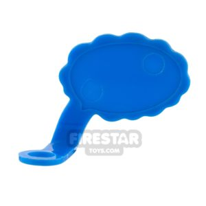 Product shot LEGO Speech Bubble - Cloud Edge - Left - Blue