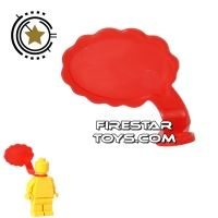 Product shot LEGO Speech Bubble - Cloud Edge - Right - Red