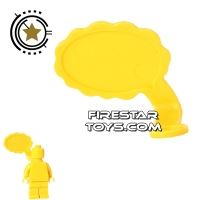 Product shot LEGO Speech Bubble - Cloud Edge - Right - Yellow