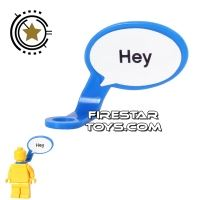 Product shot LEGO Speech Bubble - Smooth Edge - Left - Blue with Text