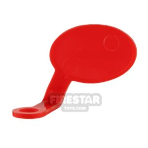 Product shot LEGO Speech Bubble - Smooth Edge - Left - Red