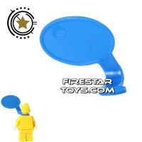 Product shot LEGO Speech Bubble - Smooth Edge - Right - Blue
