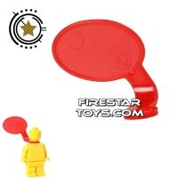 Product shot LEGO Speech Bubble - Smooth Edge - Right - Red