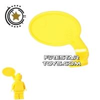 Product shot LEGO Speech Bubble - Smooth Edge - Right - Yellow