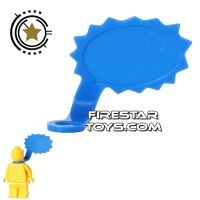Product shot LEGO Speech Bubble - Spiked Edge - Left - Blue