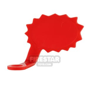 Product shot LEGO Speech Bubble - Spiked Edge - Left - Red