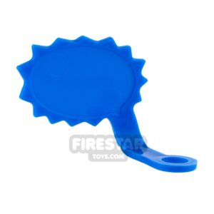 Product shot LEGO Speech Bubble - Spiked Edge - Right - Blue