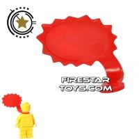 Product shot LEGO Speech Bubble - Spiked Edge - Right - Red