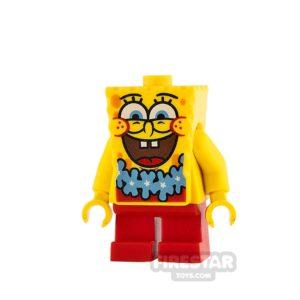 Product shot LEGO Spongebob Minifigure Spongebob Blue Lei