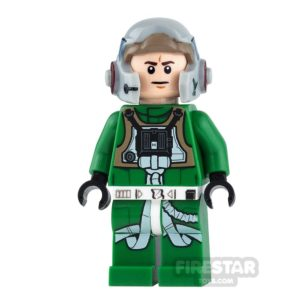 Product shot LEGO Star Wars Mini Figure - A-Wing Pilot - Green