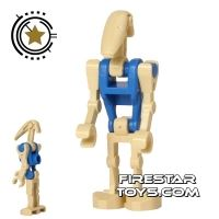 Product shot LEGO Star Wars Mini Figure - Battle Droid Pilot - Blue